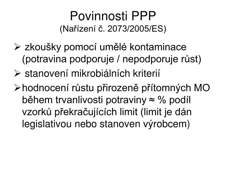 Povinnosti PPP