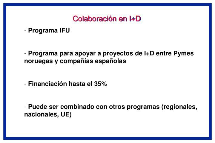 Colaboración en I+D