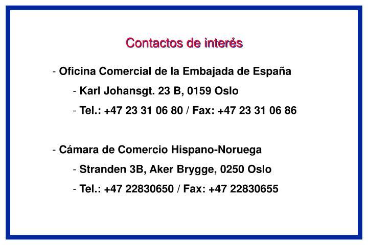 Contactos de interés