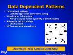 data dependent patterns