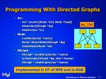 programming with directed graphs