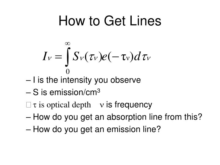 How to Get Lines