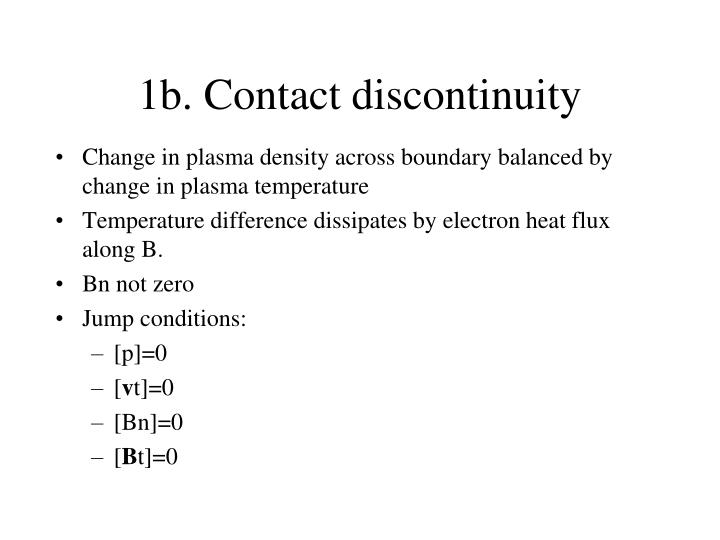 1b. Contact discontinuity