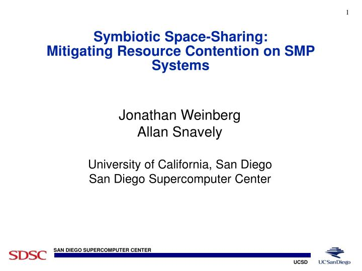 symbiotic space sharing mitigating resource contention on smp systems n.