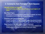 2 comments from february 5 work session