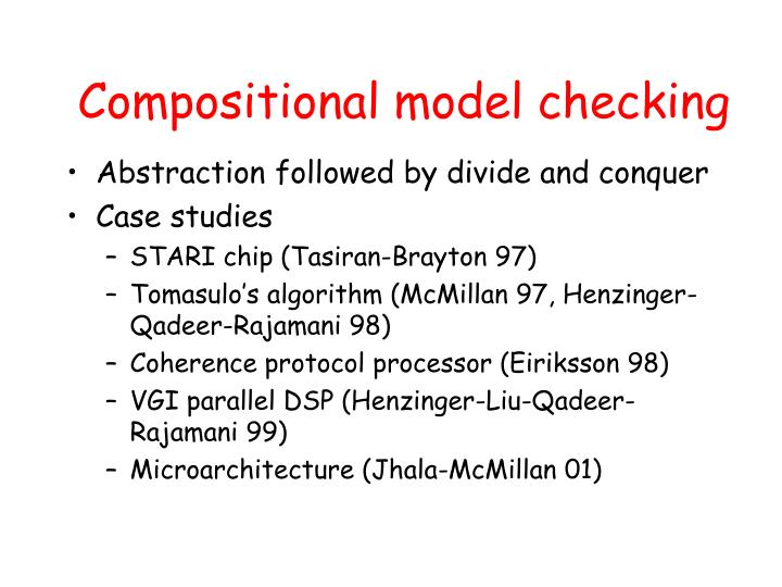 Compositional model checking