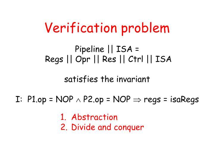 Verification problem