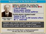 baryogenesis in the early universe