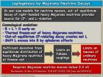 leptogenesis by majorana neutrino decays1