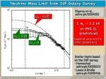 neutrino mass limit from 2df galaxy survey