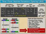 three flavor neutrino parameters ignoring lsnd