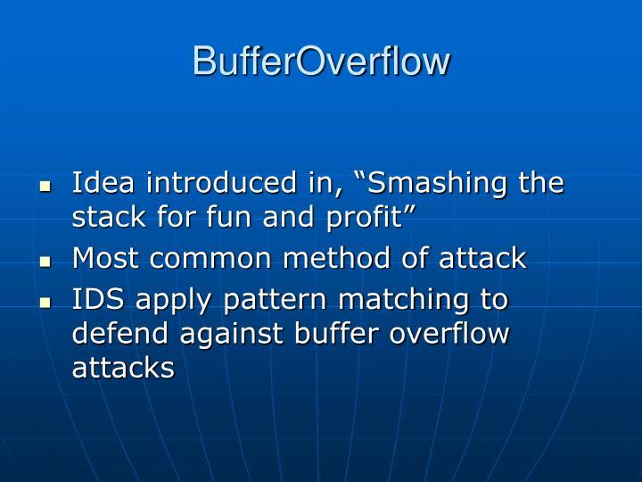 Bufferoverflow