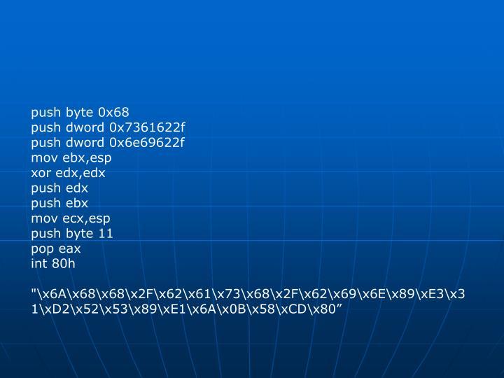 push byte 0x68