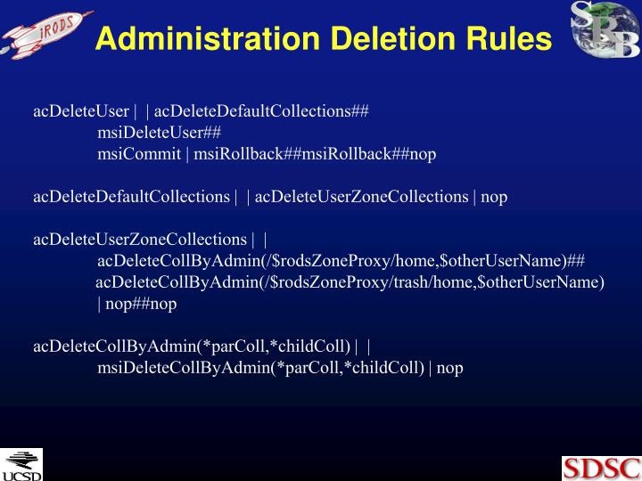 Administration Deletion Rules