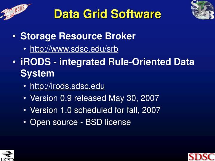 Data grid software