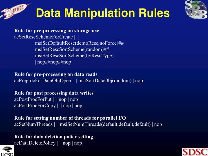 Data Manipulation Rules