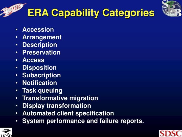 ERA Capability Categories