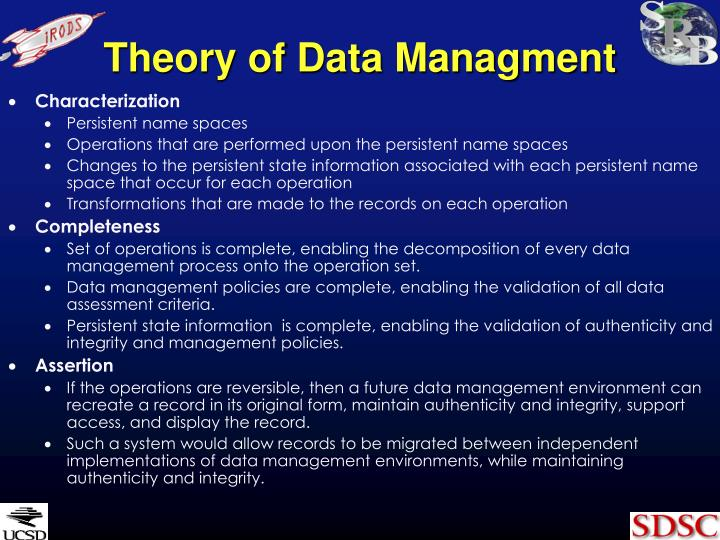 Theory of Data Managment