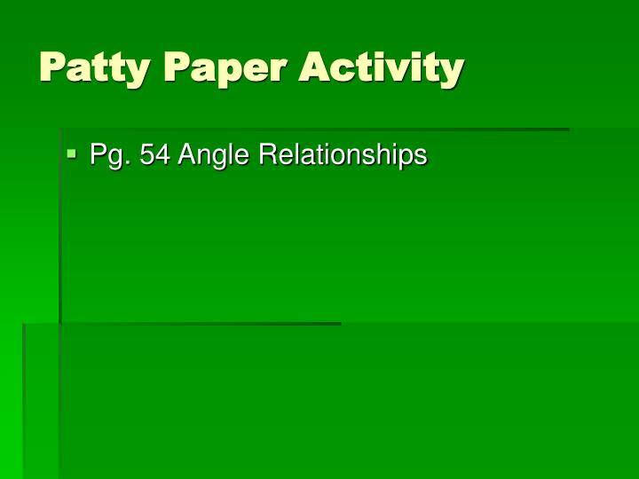 Patty Paper Activity