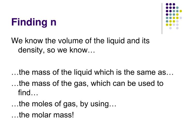 Finding n