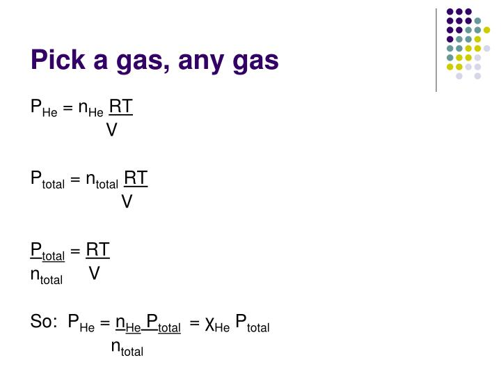 Pick a gas, any gas