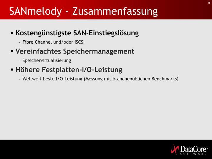 SANmelody - Zusammenfassung