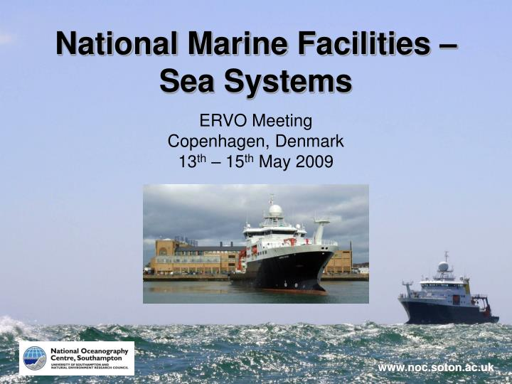 National marine facilities sea systems