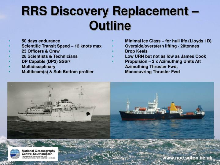 RRS Discovery Replacement – Outline