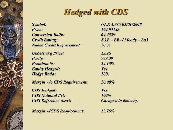 Hedged with CDS