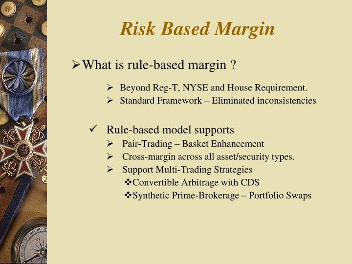 Risk based margin
