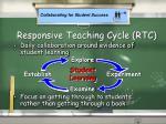 responsive teaching cycle rtc