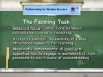 the planning task