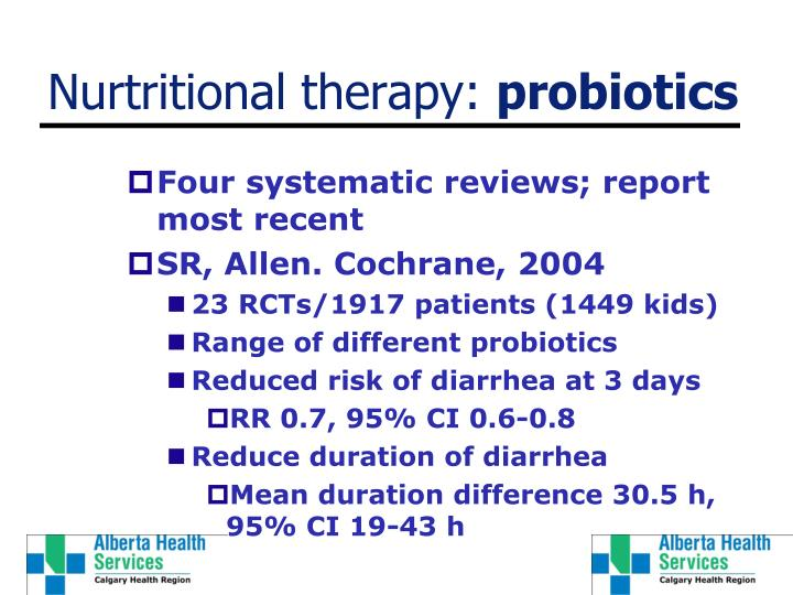 Nurtritional therapy: