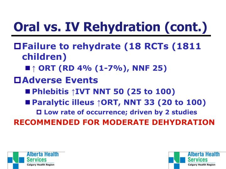 Oral vs. IV Rehydration (cont.)