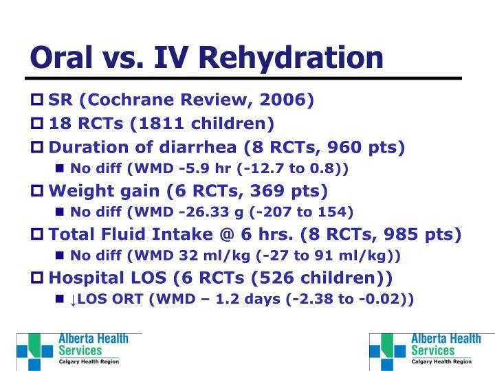 Oral vs. IV Rehydration