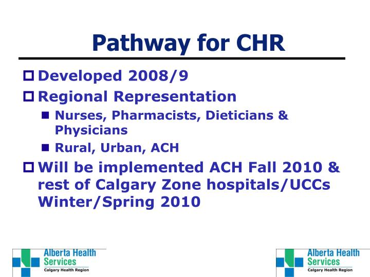 Pathway for chr