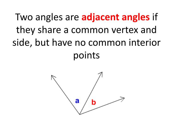Two angles are