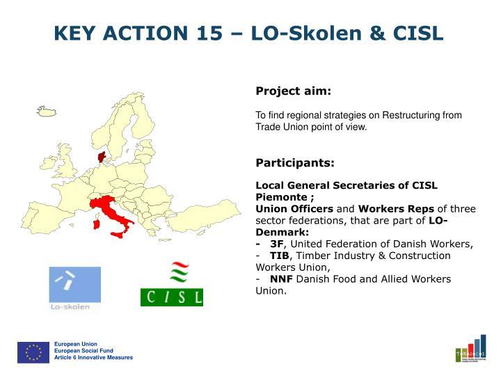 KEY ACTION 15 – LO-Skolen & CISL