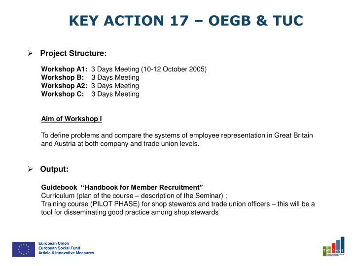 KEY ACTION 17 – OEGB & TUC