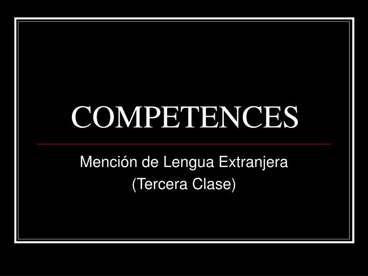 competences n.
