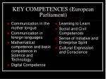 key competences european parliament