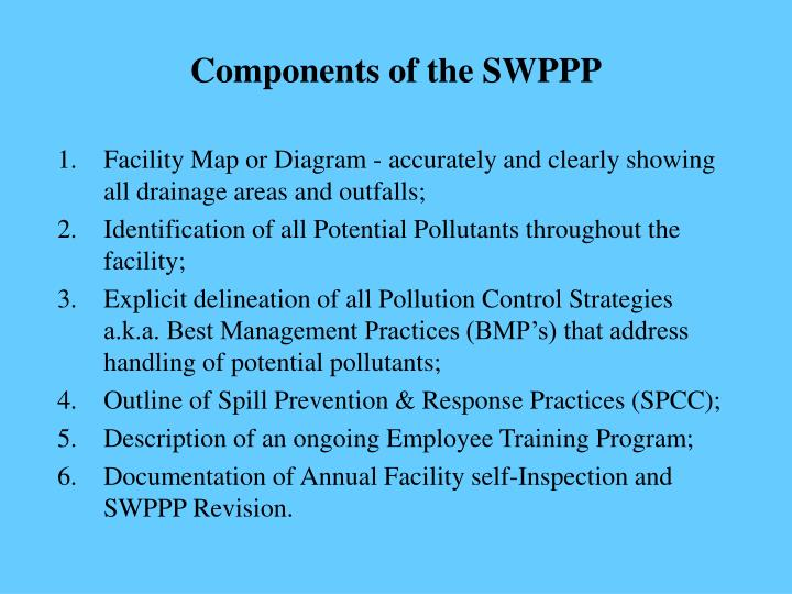 Components of the SWPPP