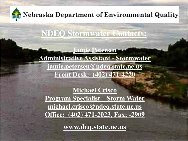 Ndeq stormwater contacts