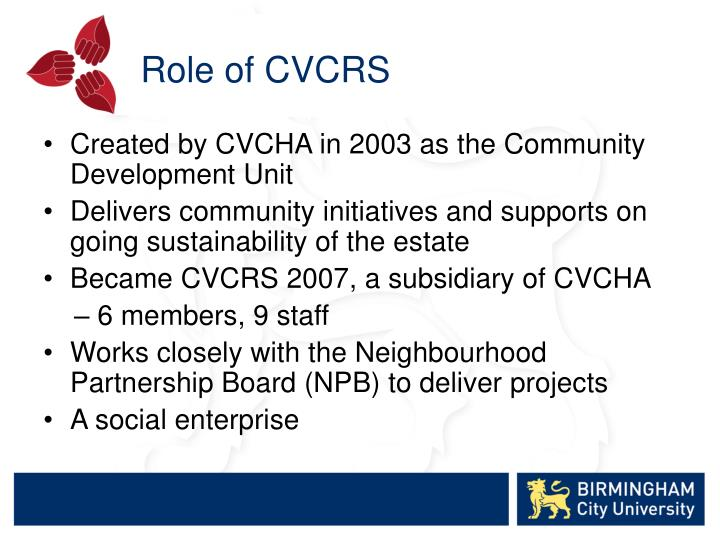 Role of CVCRS