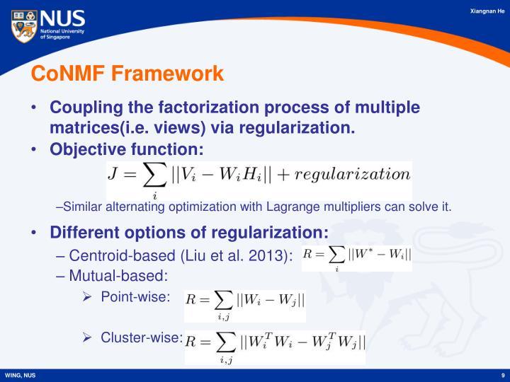 CoNMF Framework