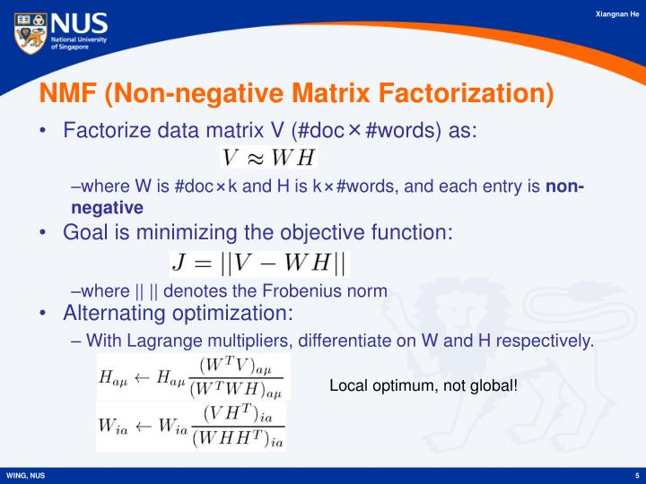 NMF (Non-negative Matrix Factorization)