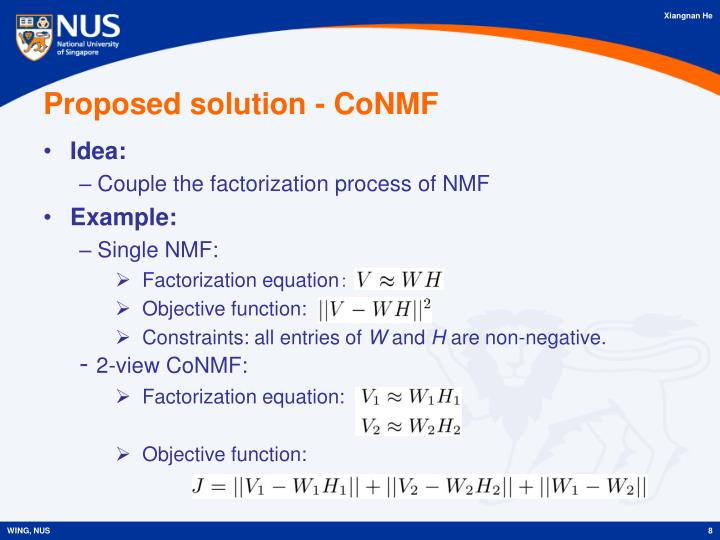 Proposed solution - CoNMF