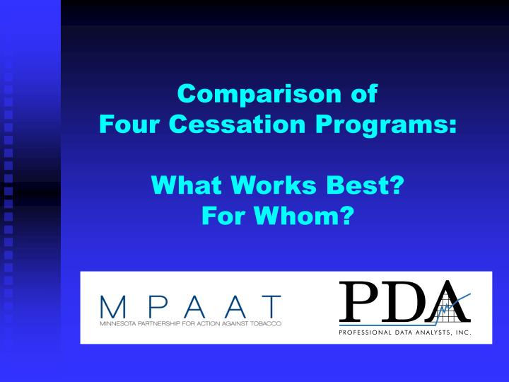 comparison of four cessation programs what works best for whom