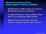minnesota partnership for action against tobacco mpaat
