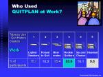 who used quitplan at work